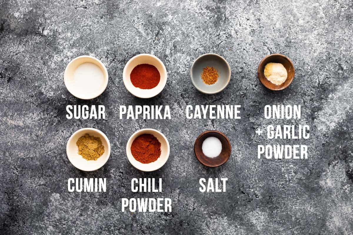 ingredients required to make chicken fajita seasoning