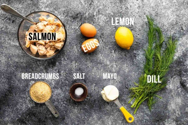 ingredients required to make salmon patties