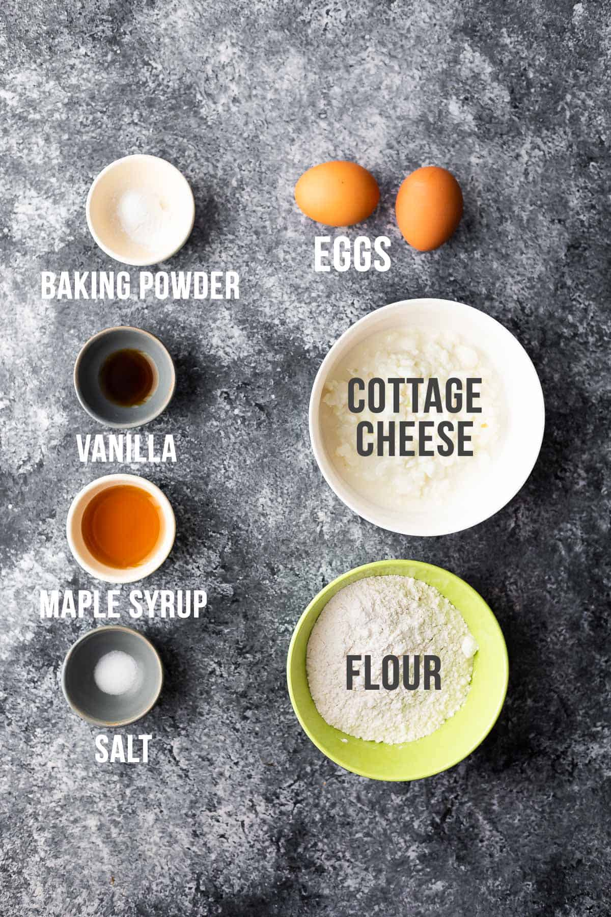ingredients required to make cottage cheese pancakes