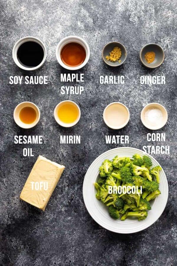 ingredients required to make teriyaki tofu