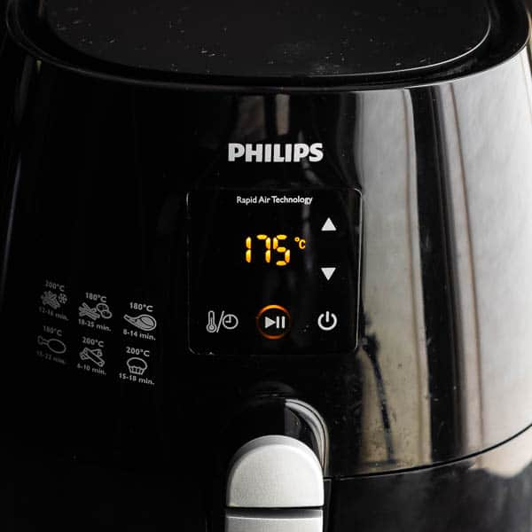 air fryer programmed to 175°F