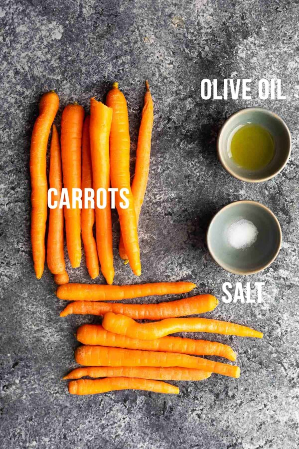 ingredients required to cook air fryer carrots