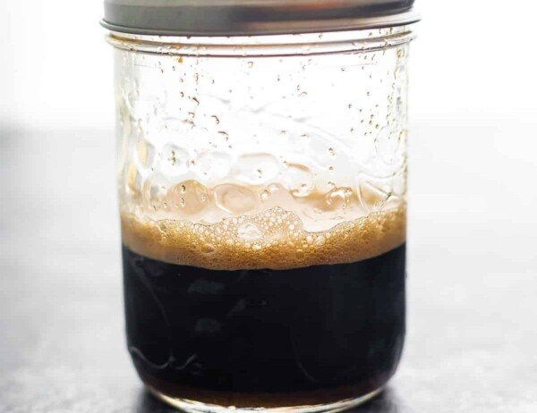 sauce in a half pint jar