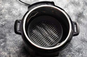 steamer basket on trivet in instant pot