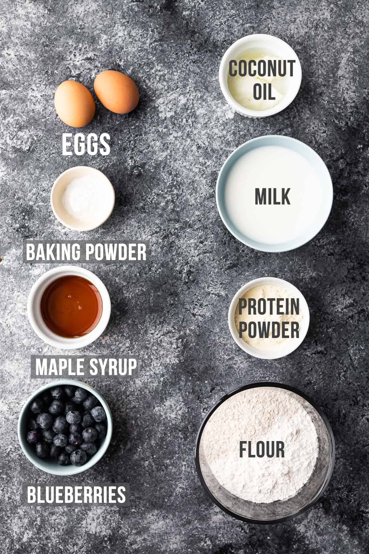 ingredients required to make Instant Pot pancake bites