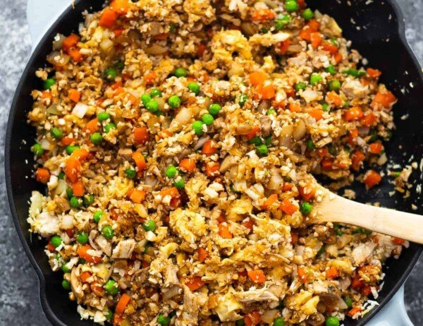 fully cooked cauliflower fried rice