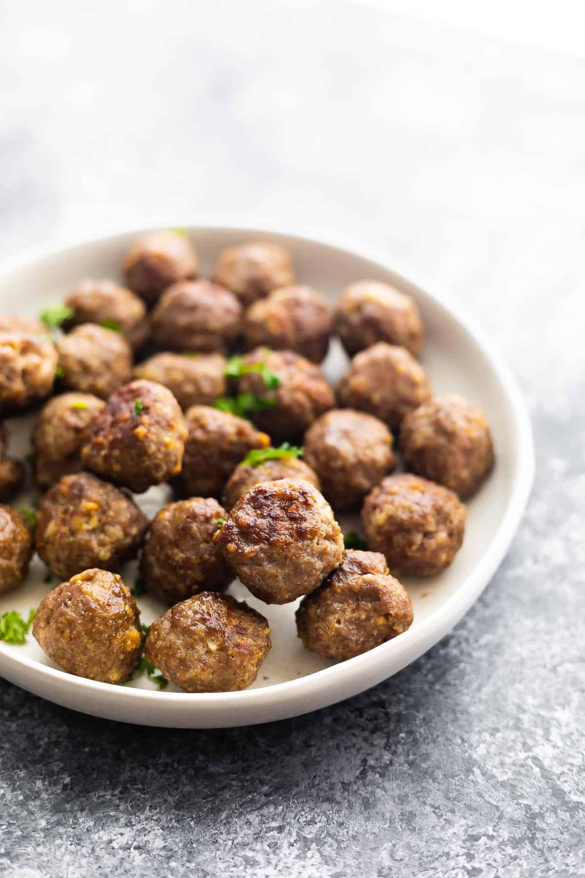 meatballs on white plate