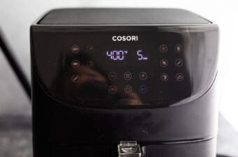 air fryer with 400F on screen