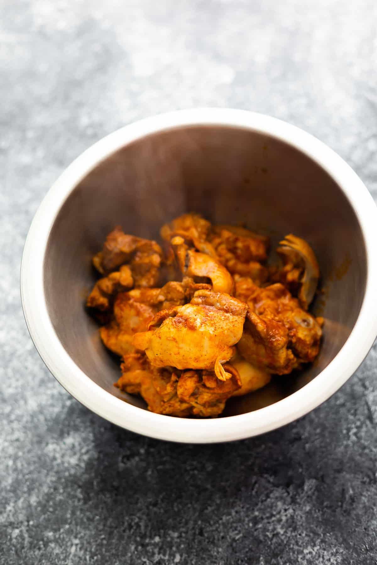 bbq chicken in bowl