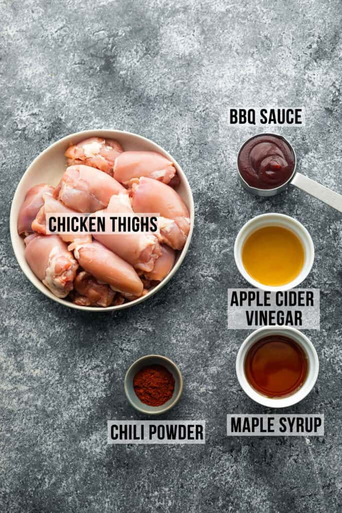 ingredients required to make instant pot bbq chicken