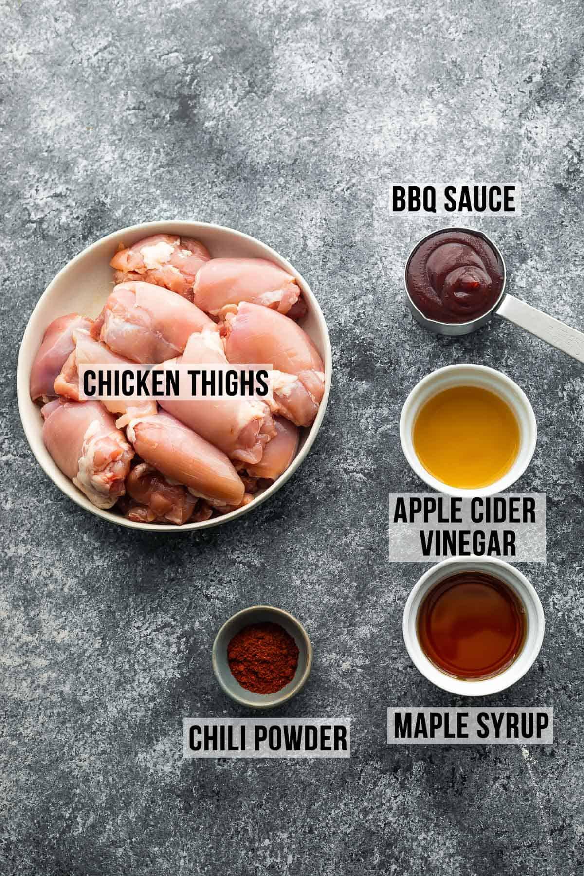 hazır tencerede barbekü tavuk yapmak için gerekli malzemeler