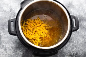 egg noodles added into the instant pot