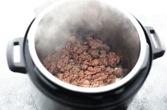 sauteeing beef in the instant pot