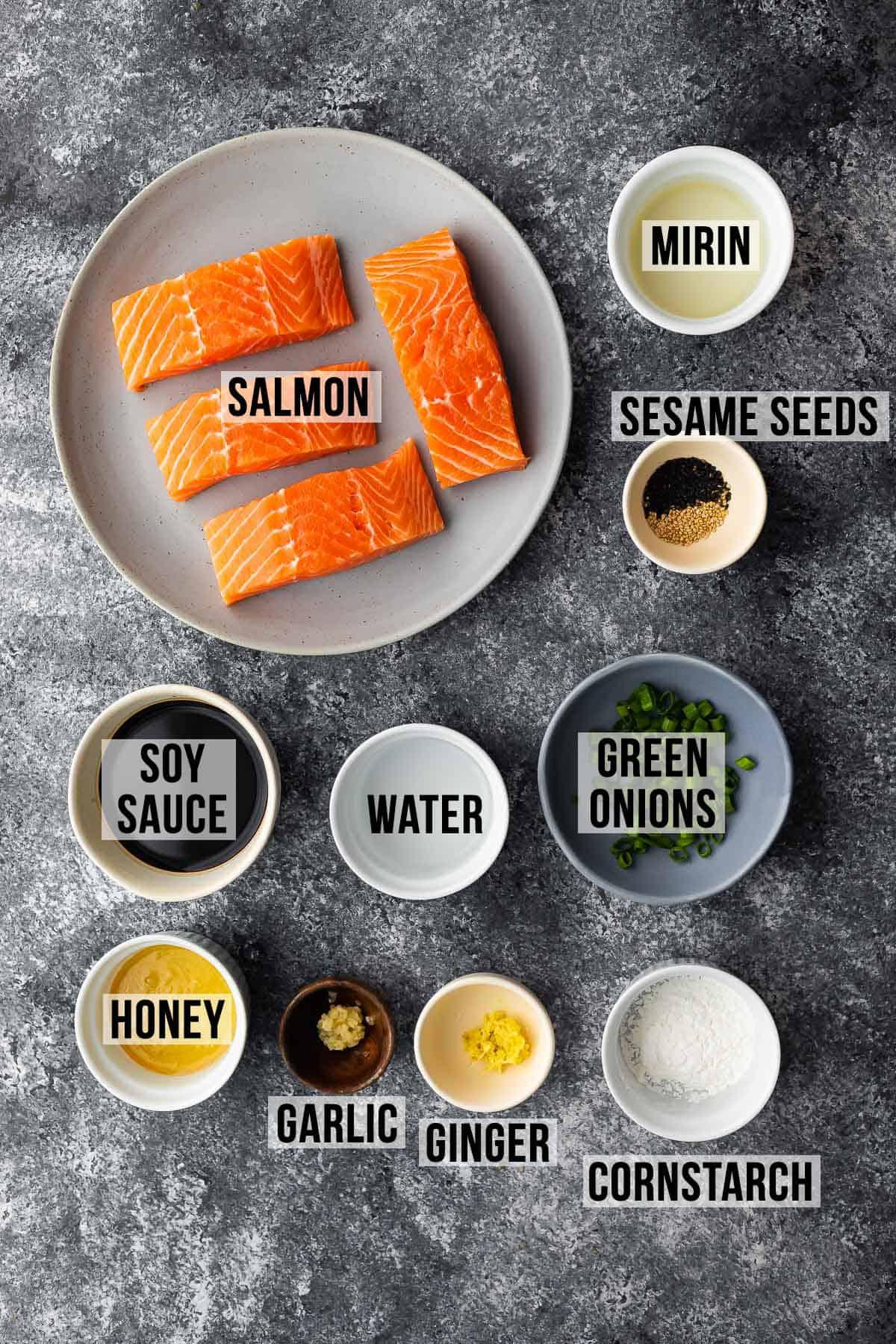 ingredients required to make teriyaki glazed salmon