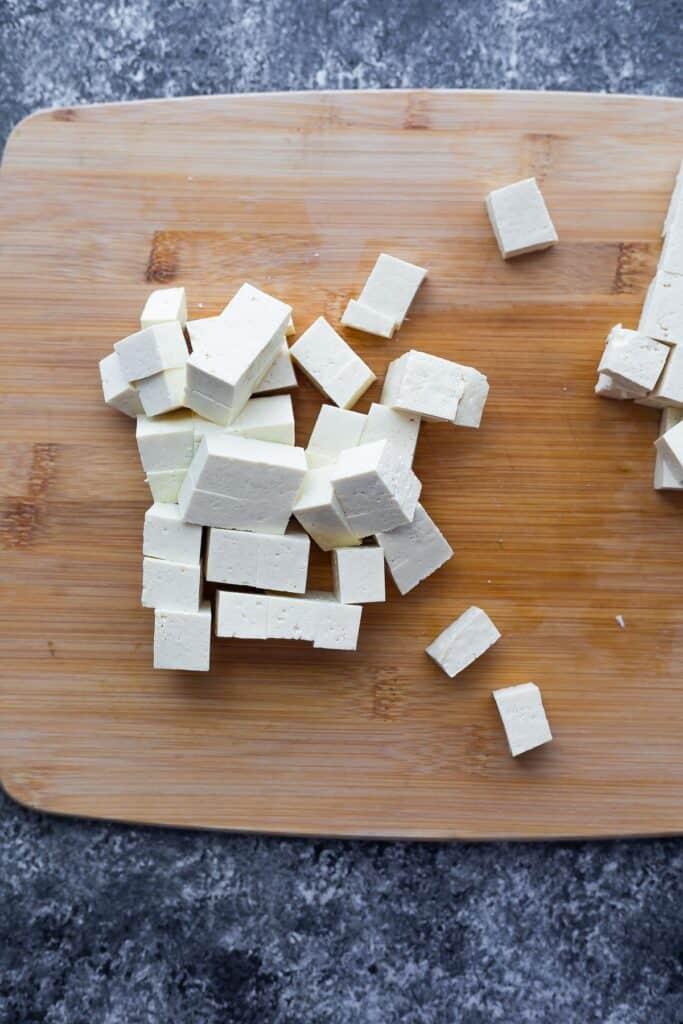 block of tofu cut into ¾ inch cubes