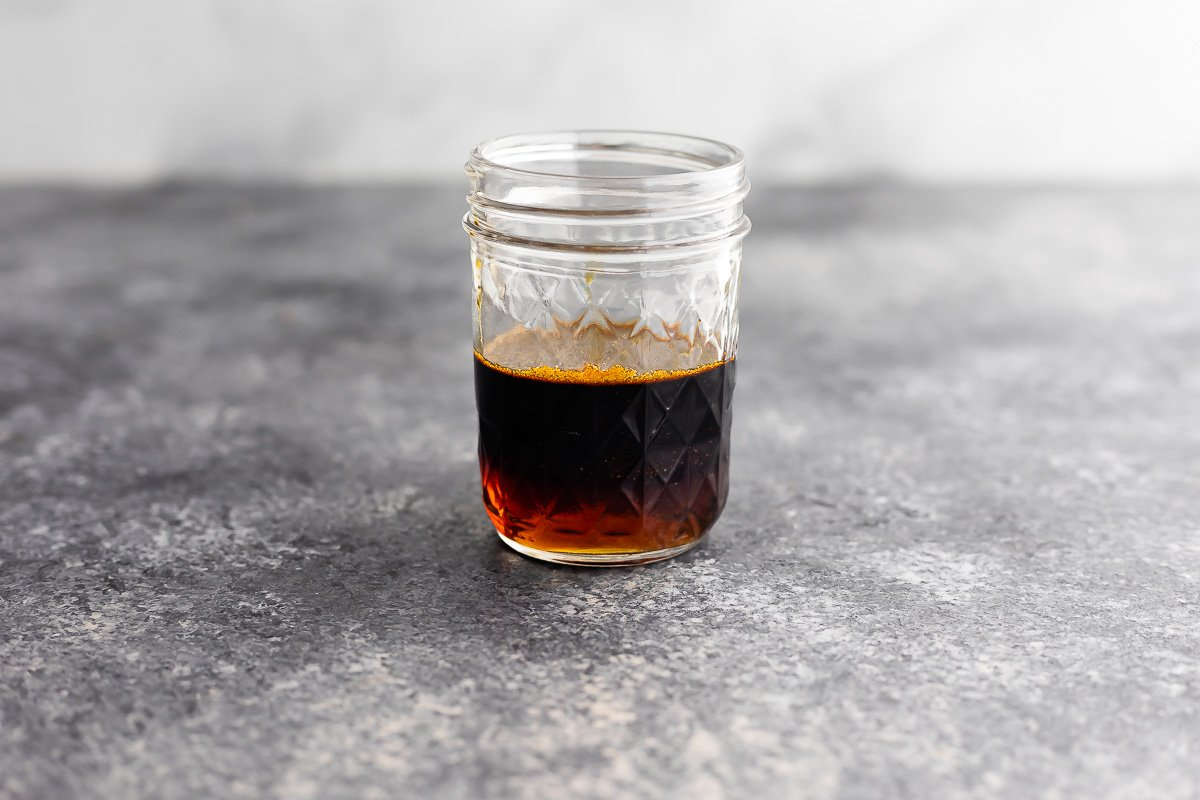 balsamic marinade in jar