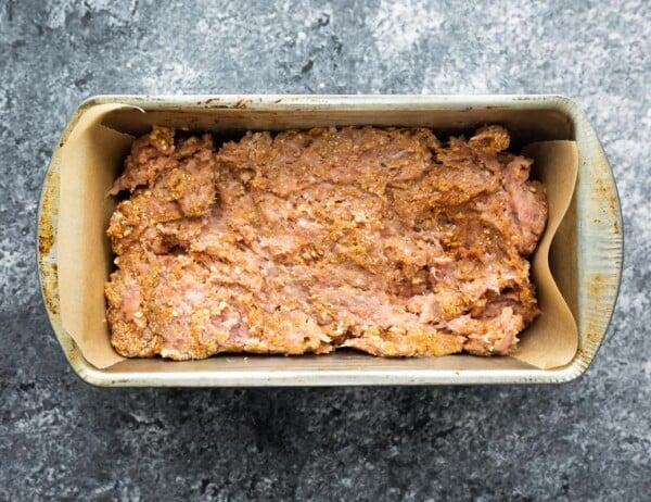 turkey meatloaf in pan