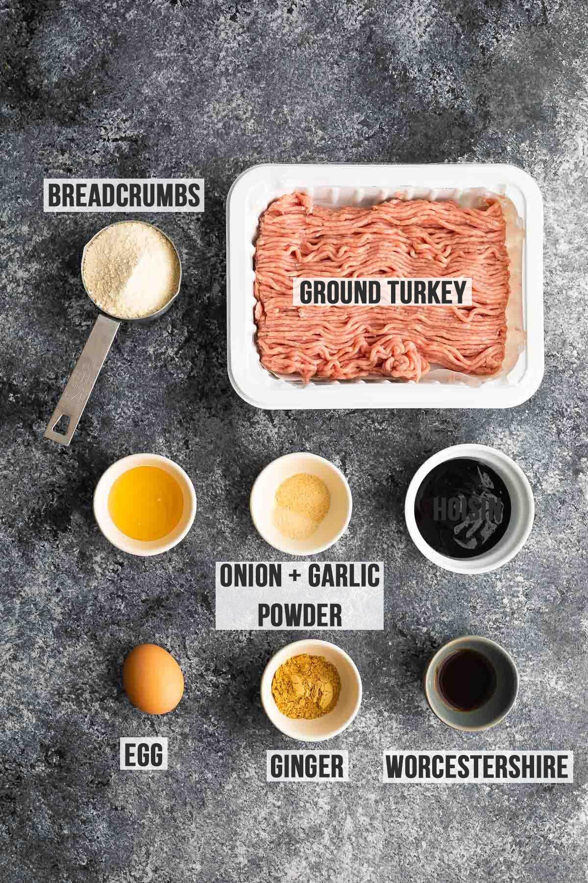 ingredients required to make hoisin turkey meatloaf