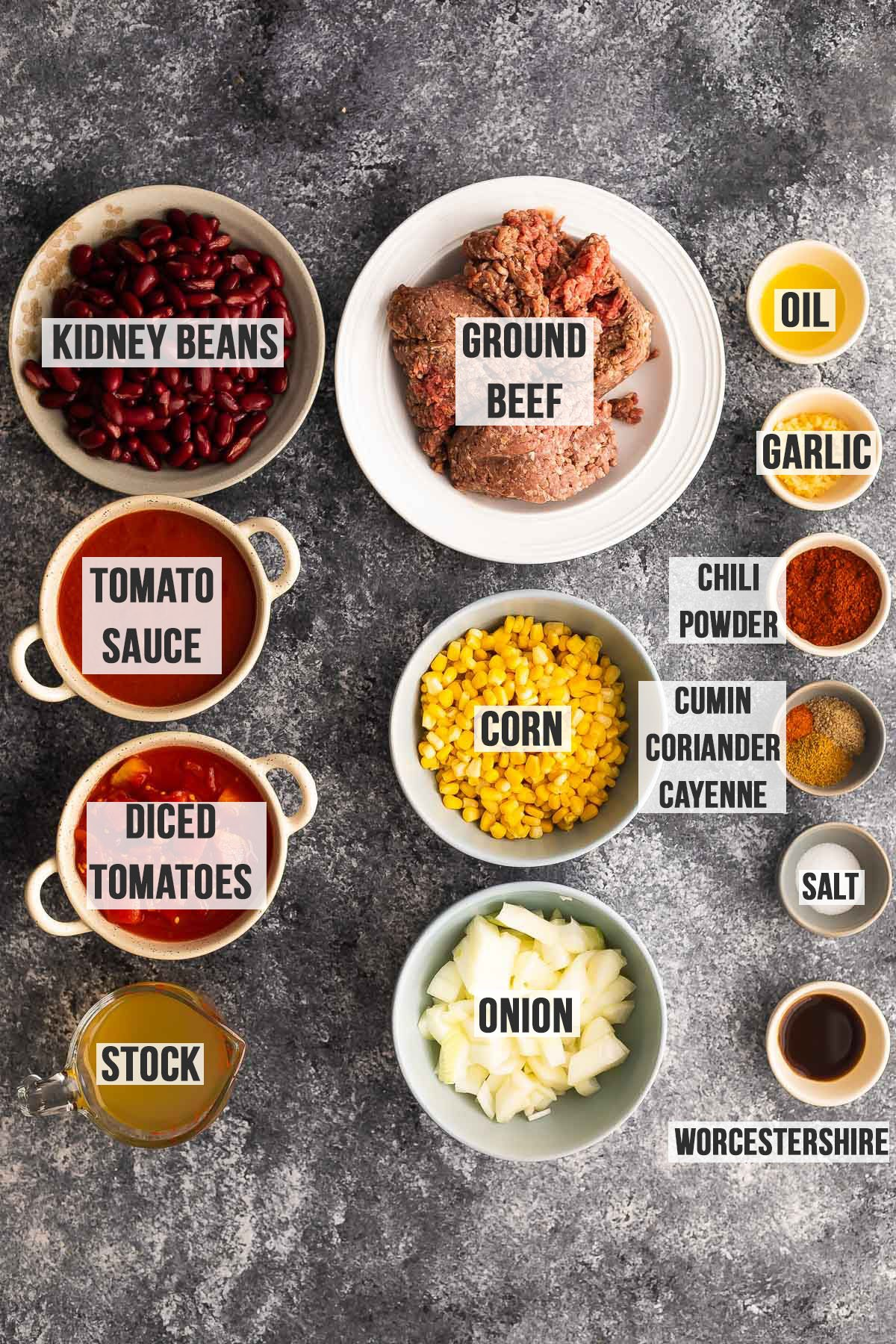 ingredients required for instant pot beef chili