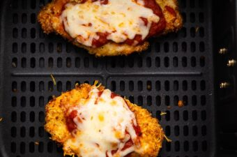 chicken parm in the air fryer after cooking through