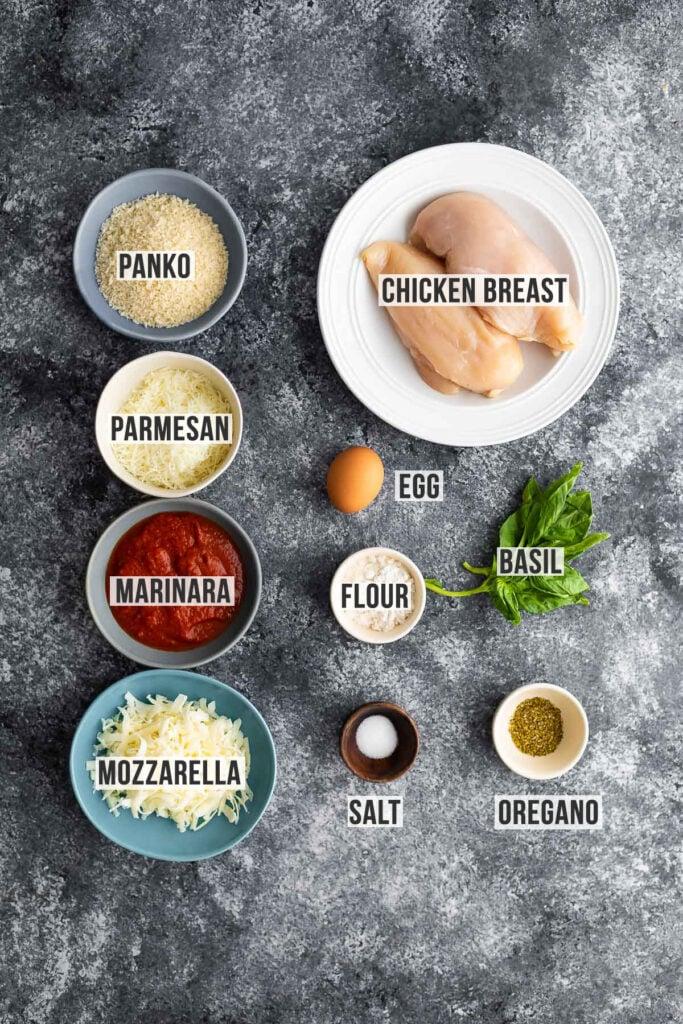 ingredients required to make chicken parm