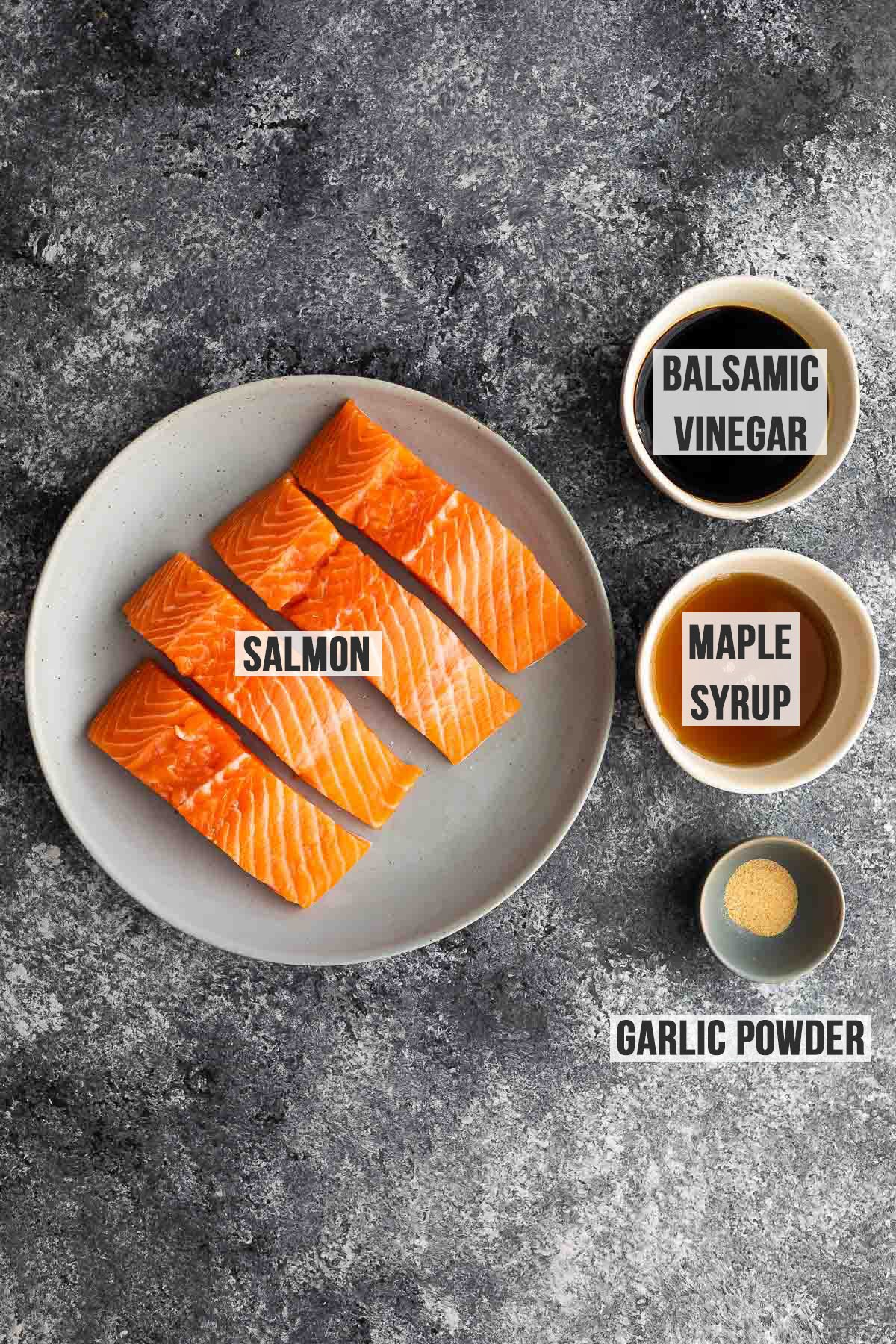 ingredients required to make balsamic salmon marinade