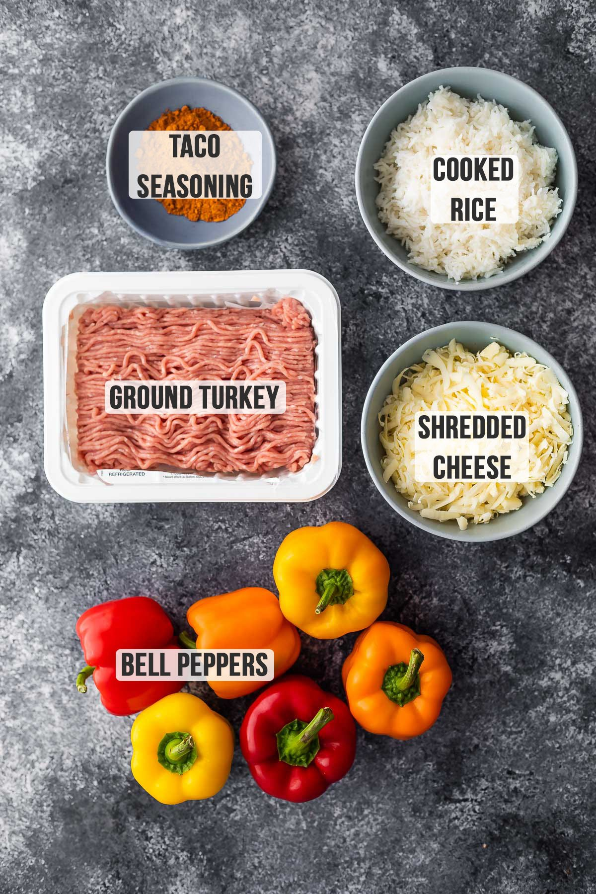 ingredients required to make stuffed peppers