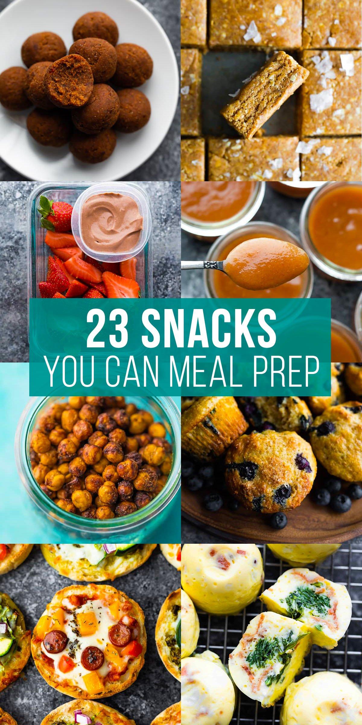 23 atıştırmalık yemek hazırlayabileceğinizi söyleyen kolaj resmi