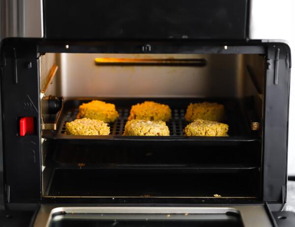 falafels in the air fryer