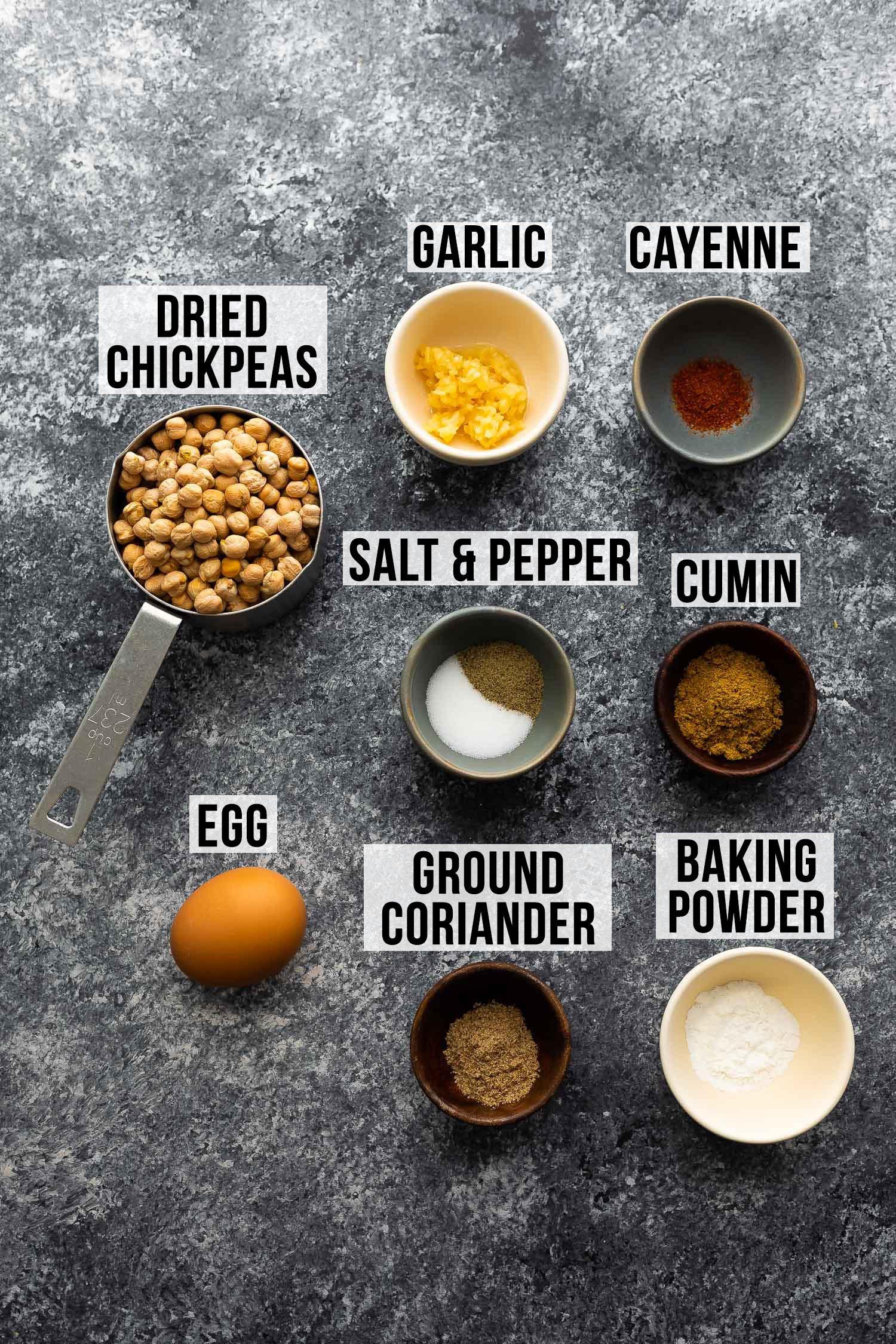 hava fritözü falafel yapmak için gerekli malzemeler