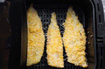 breaded fish in air fryer before cooking
