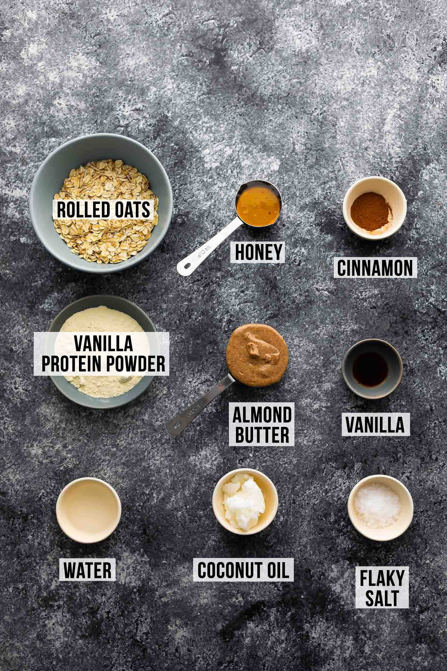 ingredients required to make cinnamon roll protein bars
