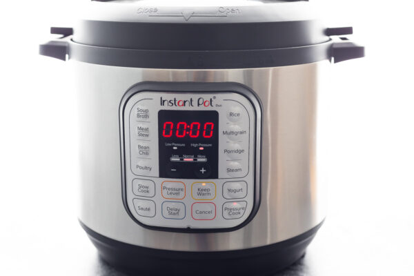 instant pot with 0 minutes on the timer