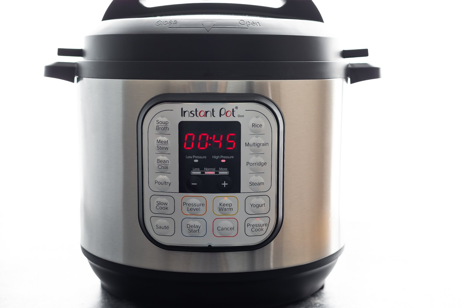 instant pot with 45 minutes on the timer