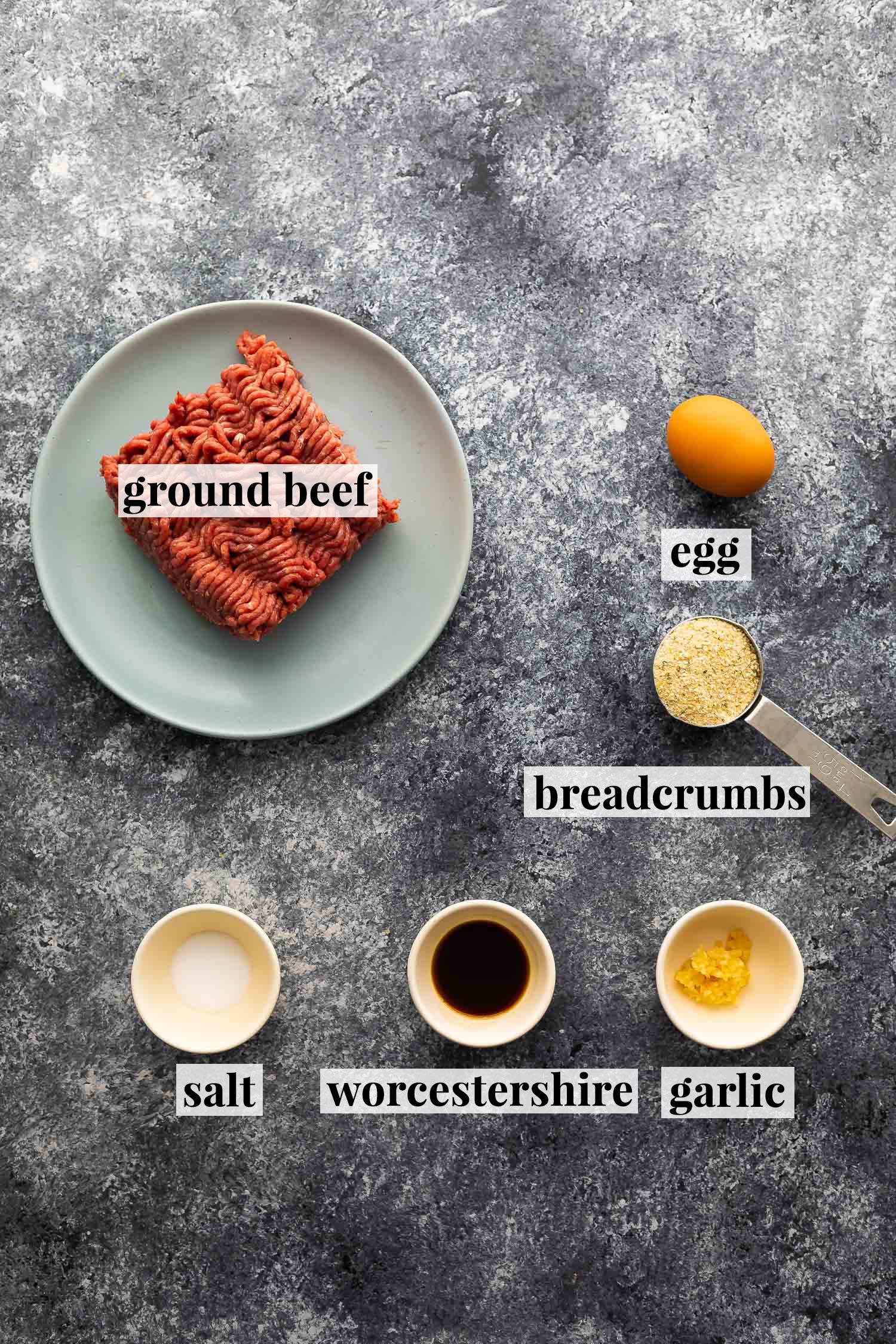 fritözlü burger yapmak için gerekli malzemeler (etiketli)