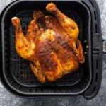 whole chicken in air fryer basket
