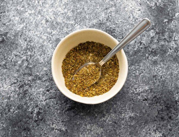 herb seasoning in small bowl