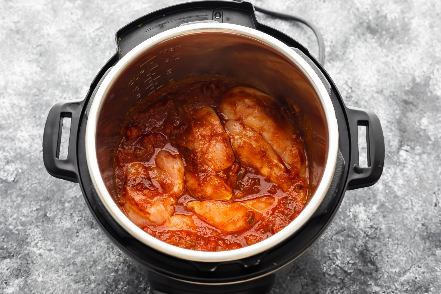 ingredients for salsa chicken in the instant pot