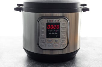 instant pot with 28 minutes on the timer