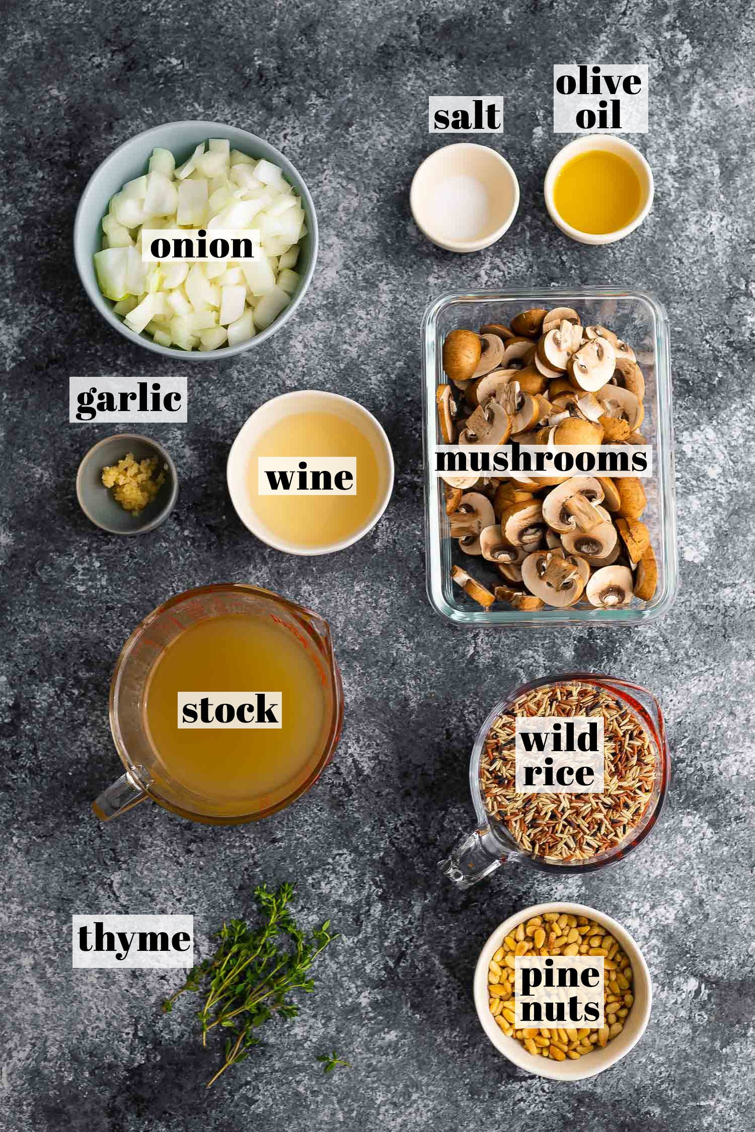 ingredients required to make wild rice pilaf