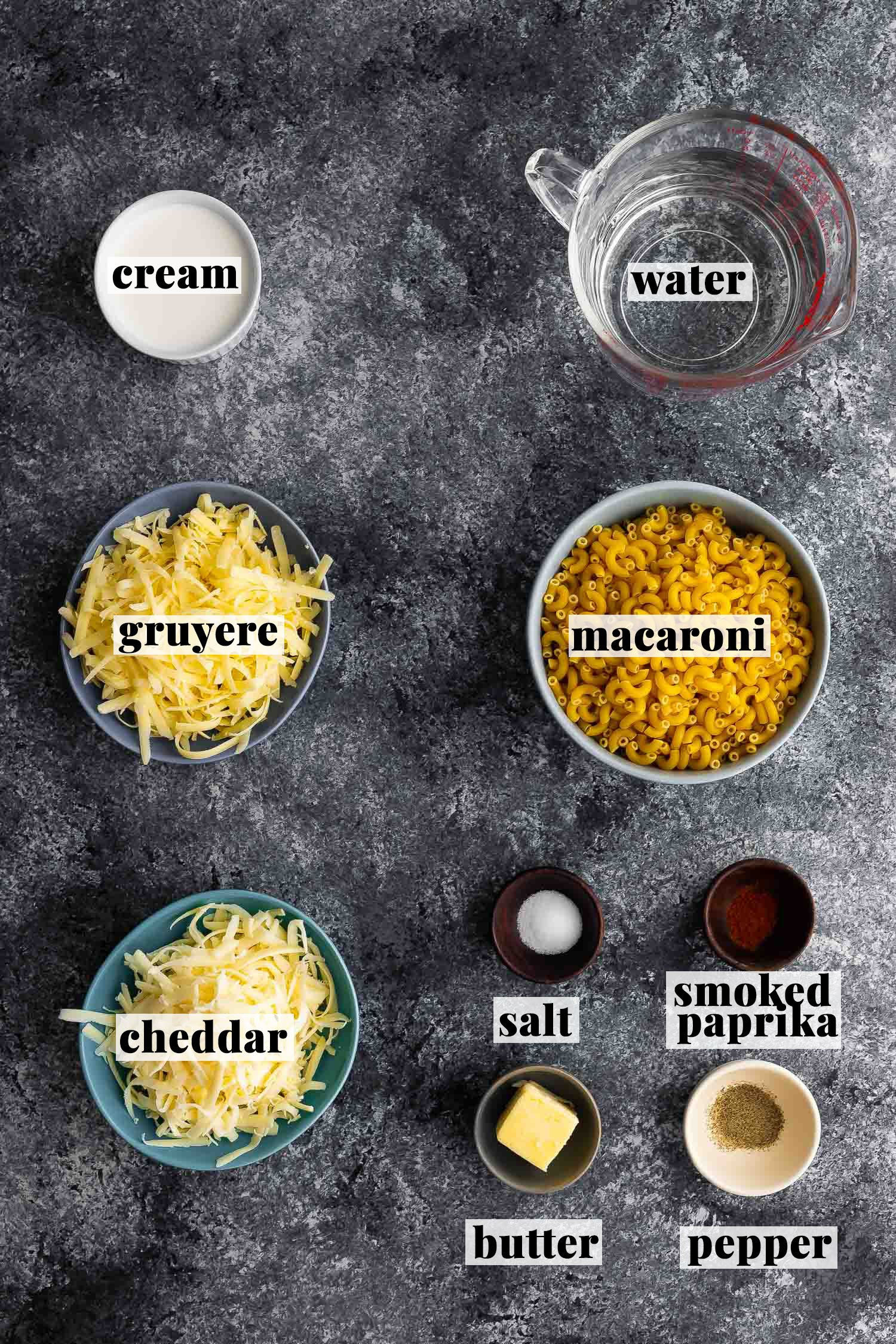 ingredients required to make instant pot mac and cheese