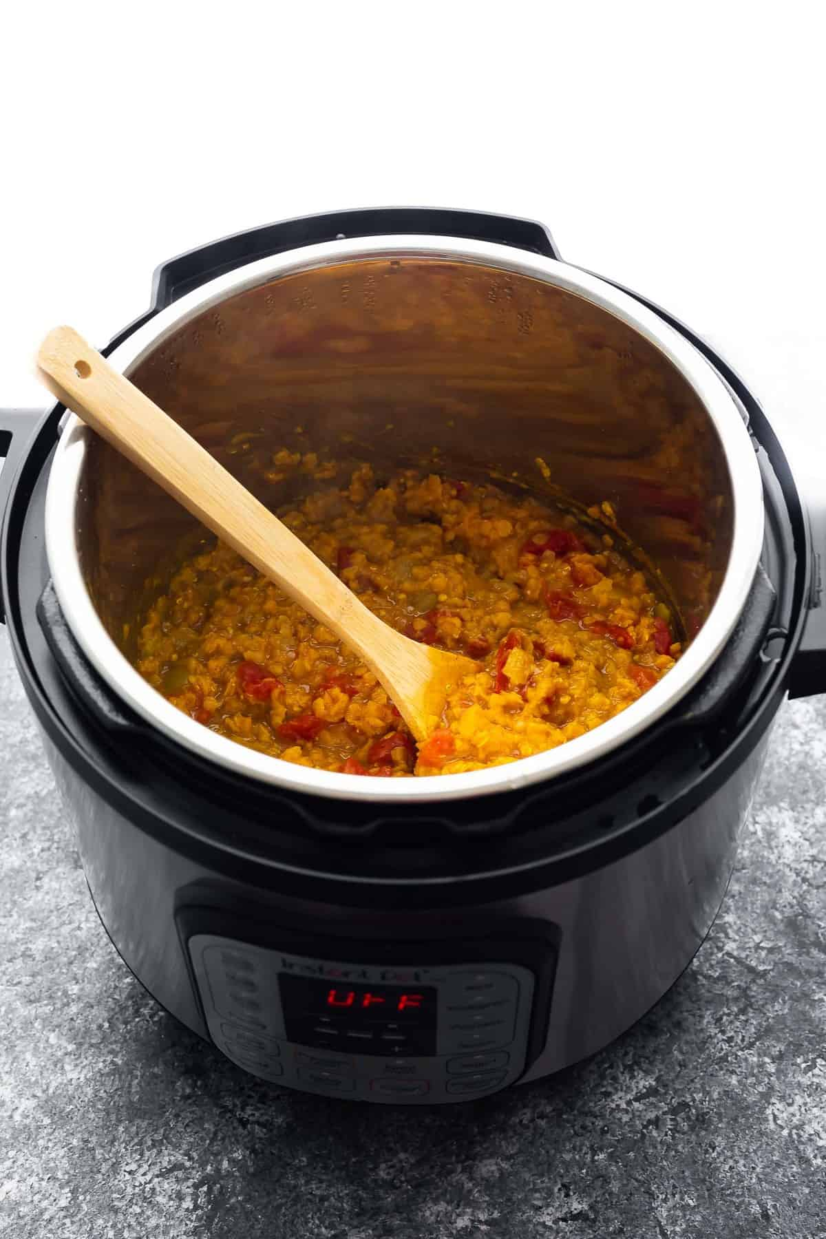 dal in the instant pot after cooking