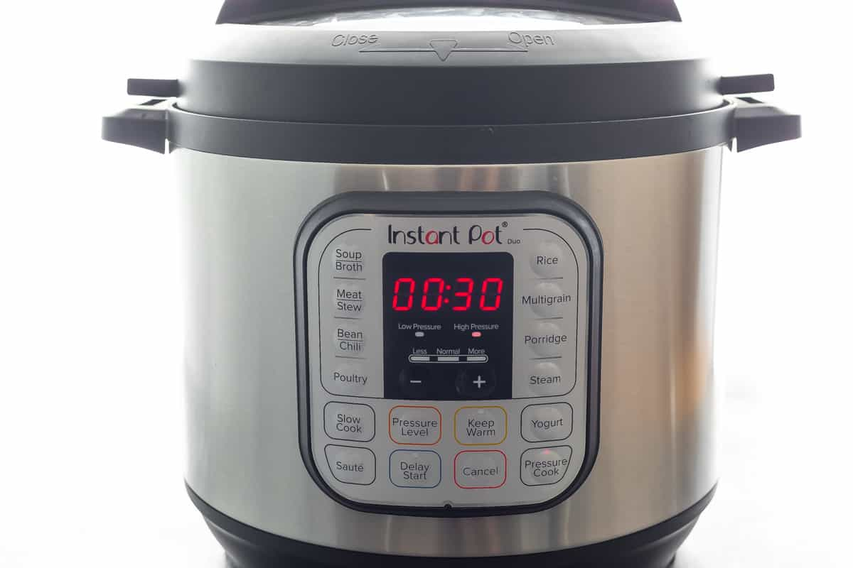 instant pot with 30 minutes on the timer